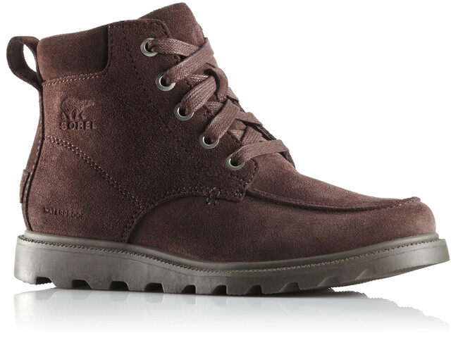 Sorel Madson Moc Toe Waterproof Shoes Youth Cattail/Mud